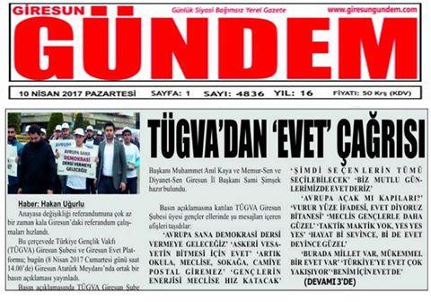 8 Nisan Türkiye Geneli Evet.